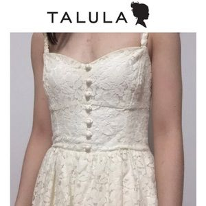 💕 Aritzia Talula Debutante Cream Lace Dress
